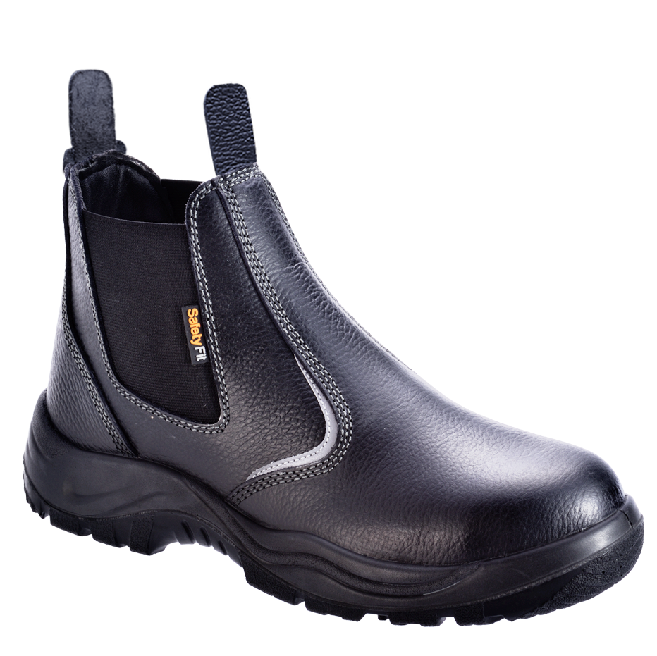 Black buffalo safety boots in Singapore