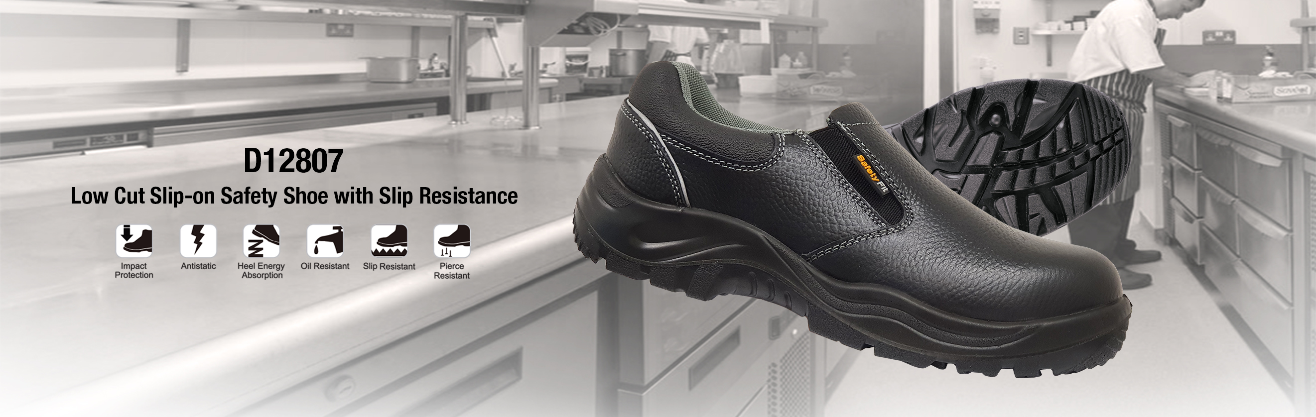 Where to buy safety shoes Singapore low cut slip-on with slip resistance